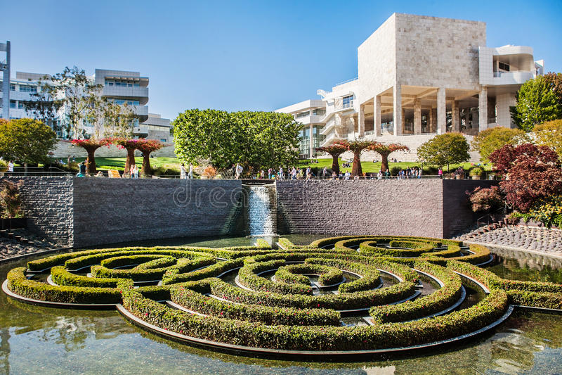 LOS ANGELES, USA - JUNE, 2015: The Central Garden royalty free stock photography