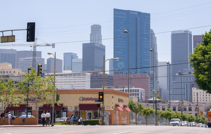 Los Angeles, USA - June 14, 2014: View of Downtown Los Angeles, California United States stock photo