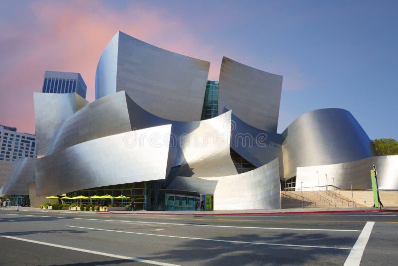 Los Angeles USA, 2016:02: 28 konserthallen Walt Disney arkivfoto