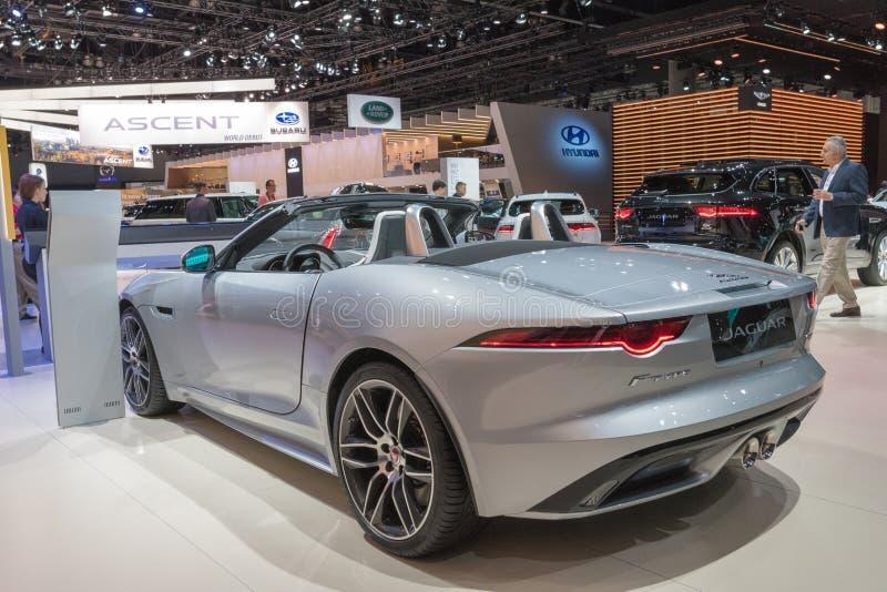 Jaguar F-TYPE on display during LA Auto Show stock photos
