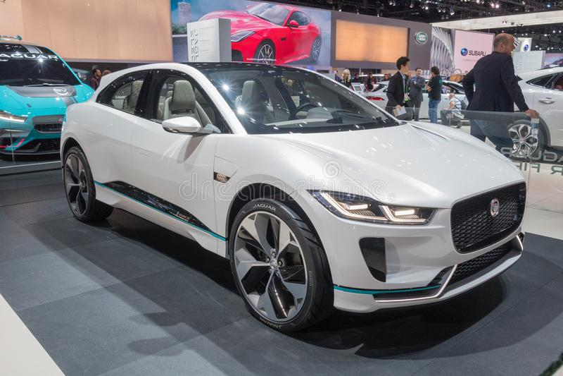 Jaguar I-PACE Concept on display during LA Auto Show stock images