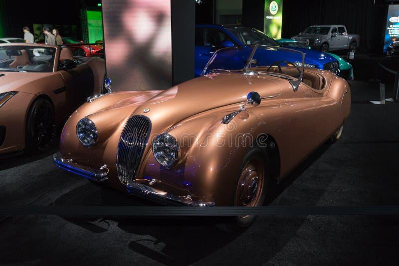 Jaguar XK120 on display during LA Auto Show stock image