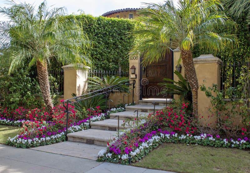 Los Angeles USA som charmar Beverly Hills herrgårdar royaltyfria foton
