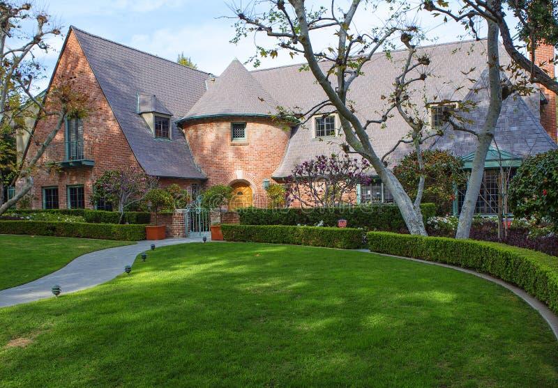 Los Angeles USA som charmar Beverly Hills herrgårdar arkivfoton
