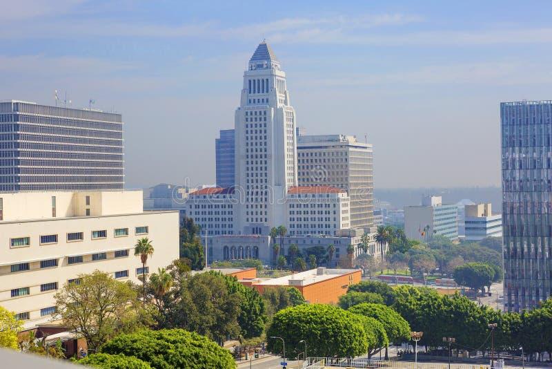 Los Angeles USA, 2016:02: 28 Los Angeles stadshus royaltyfri foto
