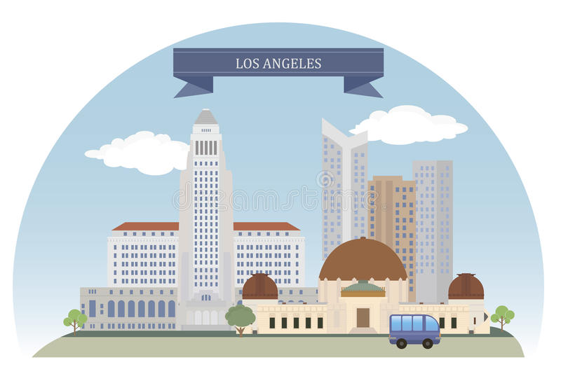 Los Angeles, USA. For you design stock illustration
