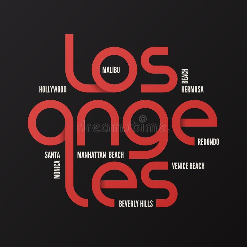 Los Angeles vector design, typography, print, logo, label, poste stock illustration