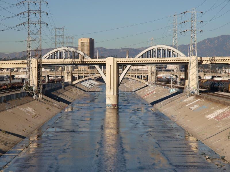 Los- Angelesfluß stockfoto