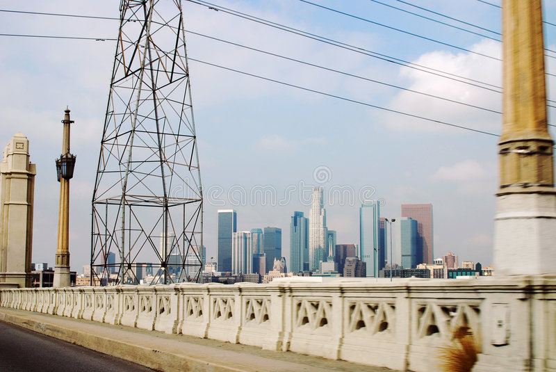 Los- Angelesinfrastruktur lizenzfreies stockfoto