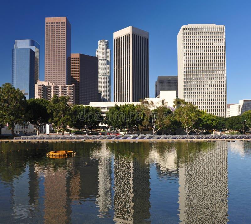 Los- Angelesstadt-Skyline lizenzfreies stockfoto