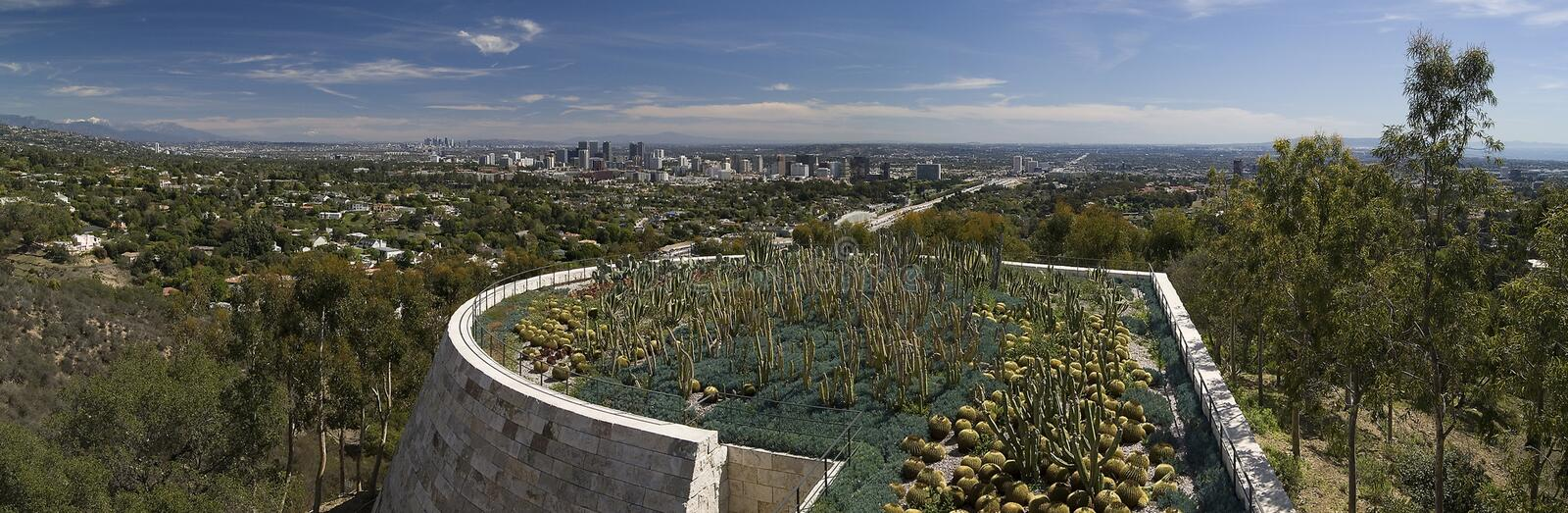 Los Angles Panorama. From the Getty Museum royalty free stock images