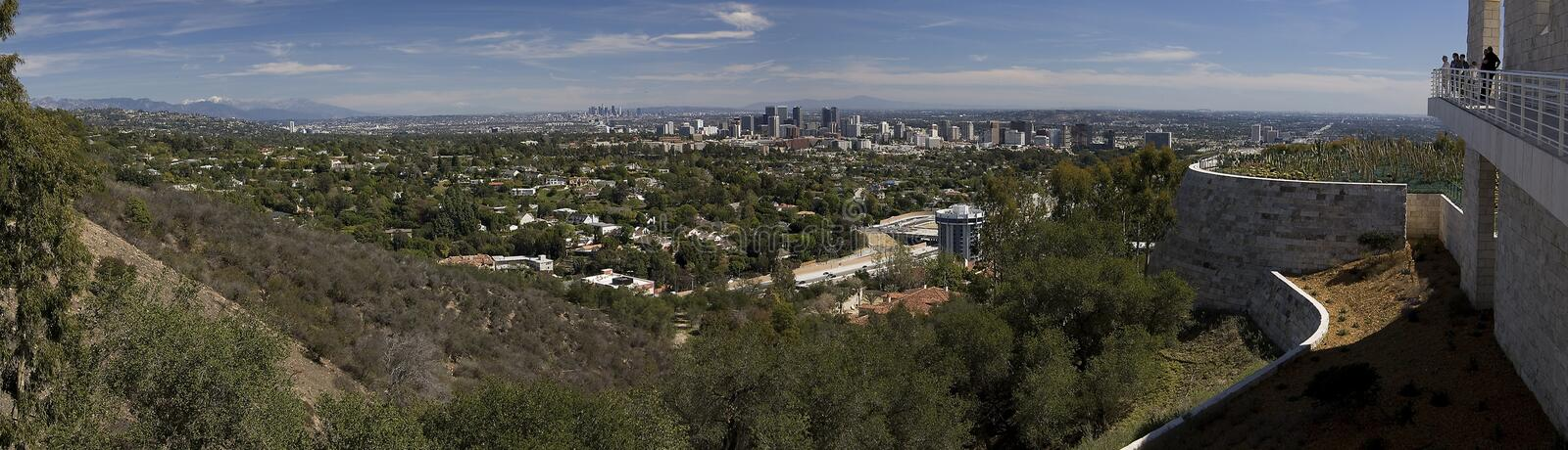 Los Angles Panorama. From the Getty Museum royalty free stock image