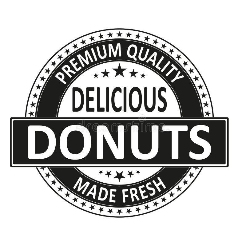 Los anillos de espuma deliciosos de la calidad superior hicieron el sello fresco de la insignia libre illustration
