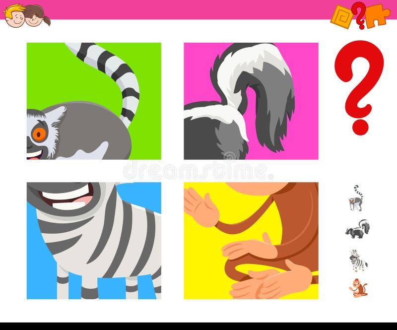 Los animales de la historieta de la conjetura encargan para los ni?os stock de ilustración