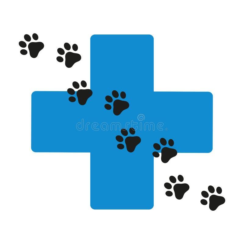 Los animales domésticos Logo Template este logotipo podían ser utilizados como tienda de animales, clínica del animal doméstico ilustración del vector