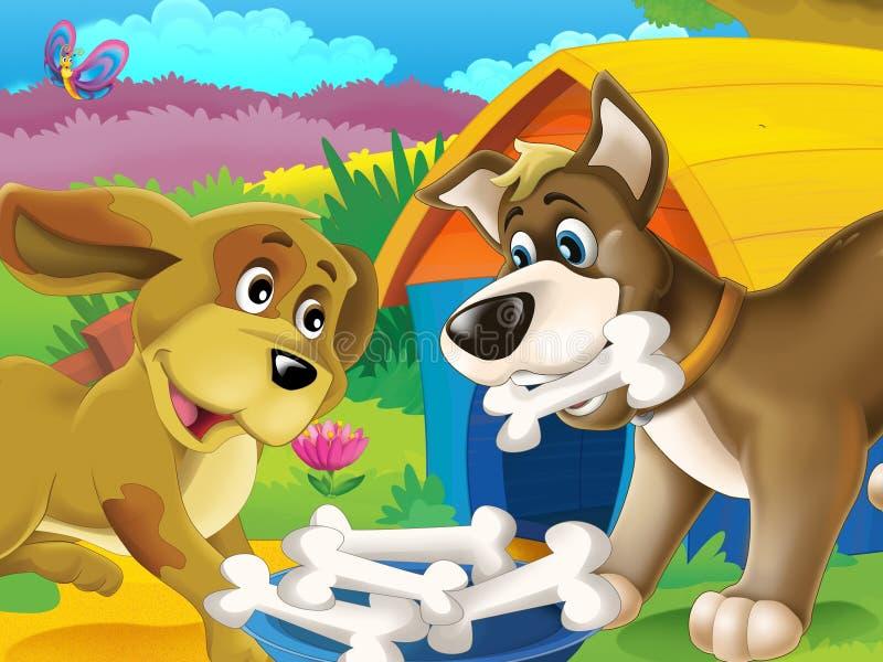Los animales felices en la granja libre illustration