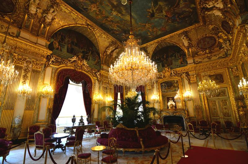 Los apartamentos de Napoleon III son un expediente excepcional del arte decorativo del segundo imperio imagenes de archivo