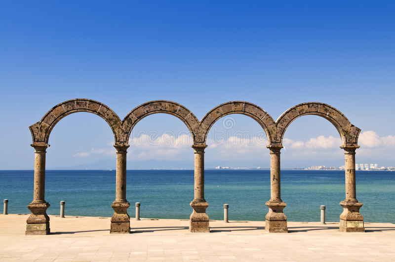 Los Arcos Amphitheater in Puerto Vallarta, Mexico royalty free stock images