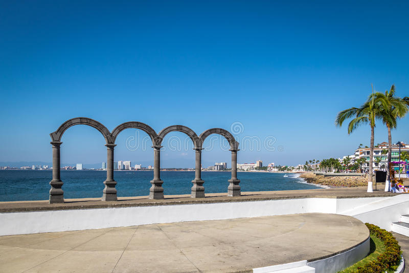 Los Arcos - Puerto Vallarta, Jalisco, Messico immagine stock libera da diritti