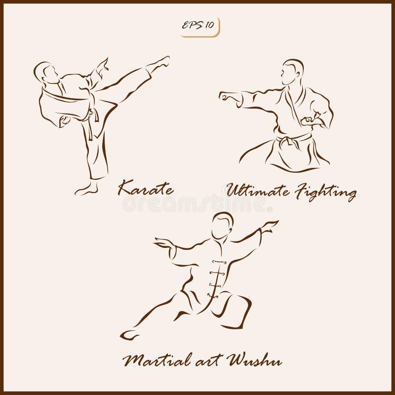 Los artes marciales libre illustration