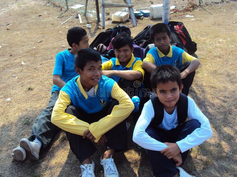 Los atletas de la escuela foto de archivo