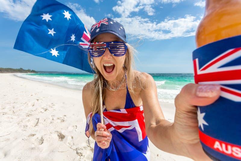 Los australianos de la manera celebran imagen de archivo