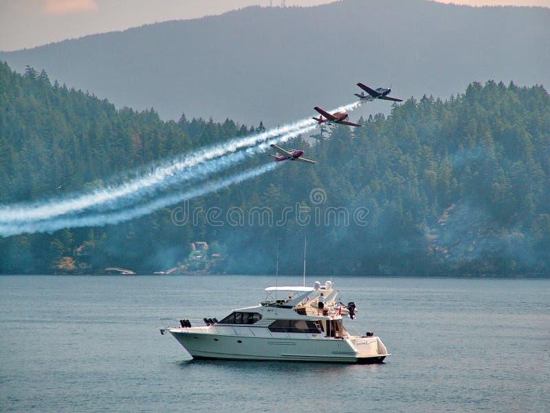 Los aviones participan en Fraser Blues Sunday Air Show foto de archivo libre de regalías