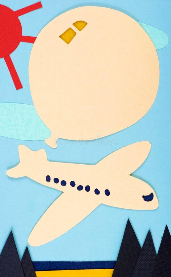 Los aviones y el globo foto de archivo libre de regalías