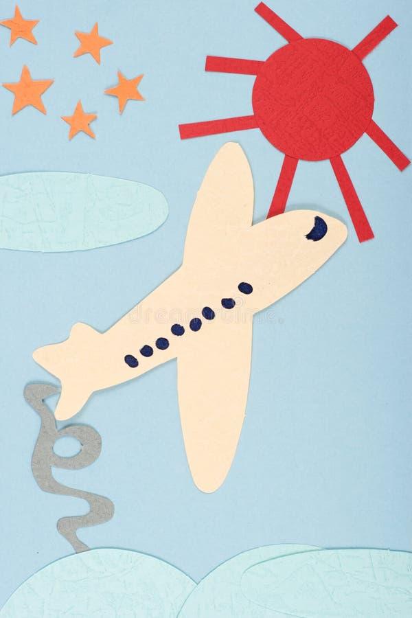 Los aviones y el sol fotos de archivo libres de regalías