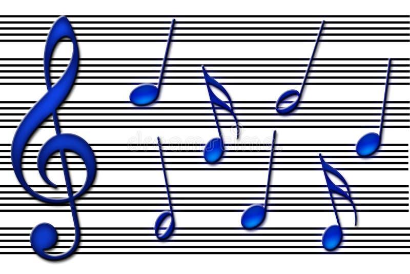 Los azules ilustración del vector