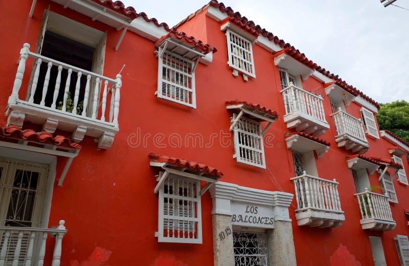 Los Balcones de Cartagena imagens de stock royalty free