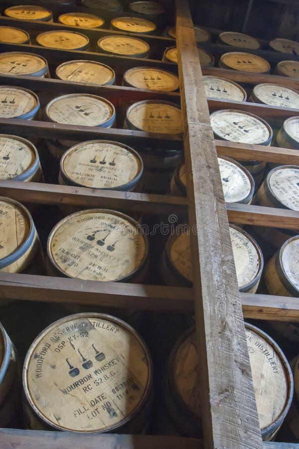Los barriles en Woodford reservan la casa de Rik fotos de archivo libres de regalías