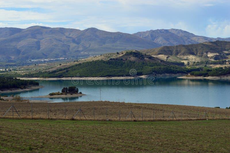 Los Bermejales Reservoir stock foto