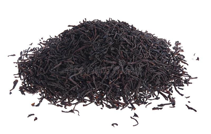 Los blad zwarte thee royalty-vrije stock afbeeldingen
