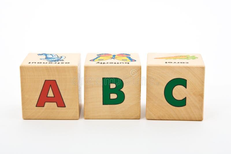 Los bloques de los niños de ABC fotos de archivo