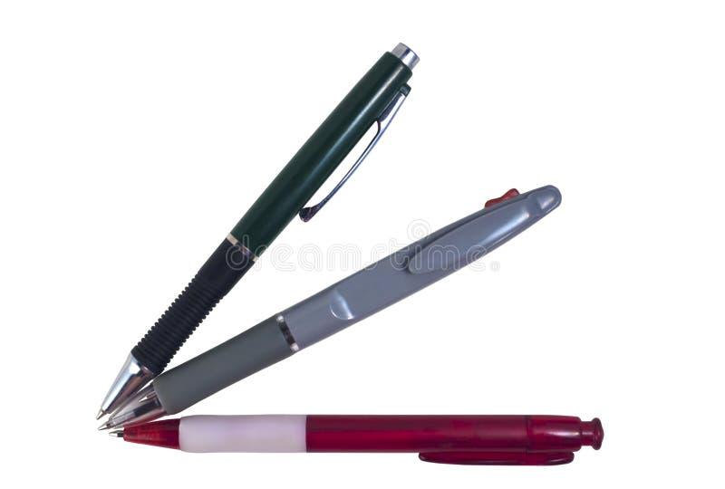 Los bolígrafos fijaron foto de archivo