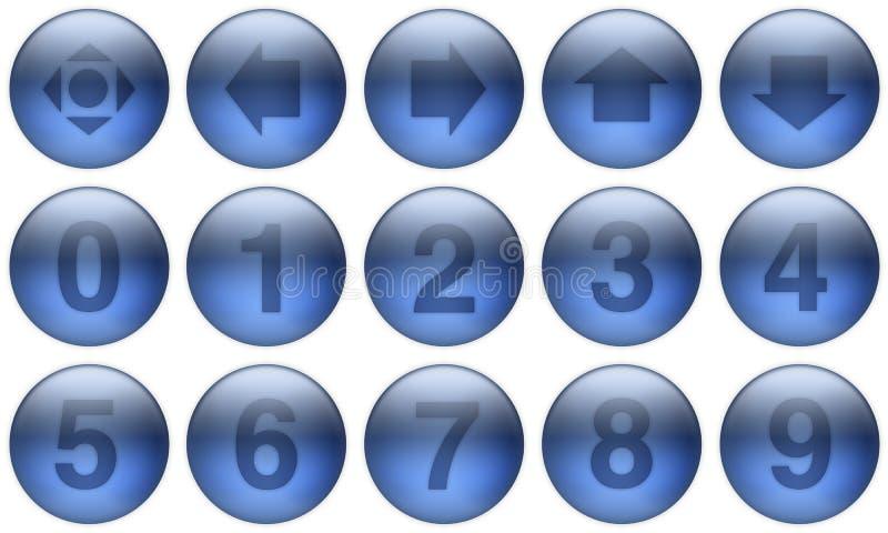 Los botones de cristal fijaron 5 libre illustration