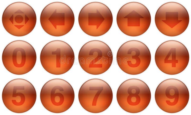 Los botones de cristal fijaron 5 stock de ilustración