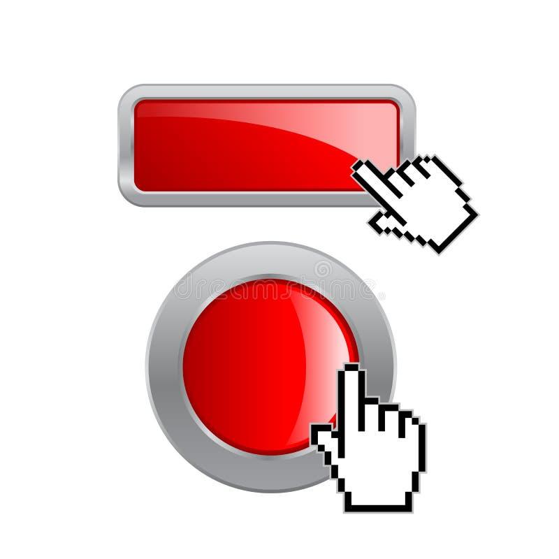 Los botones de la web hacen clic aquí libre illustration
