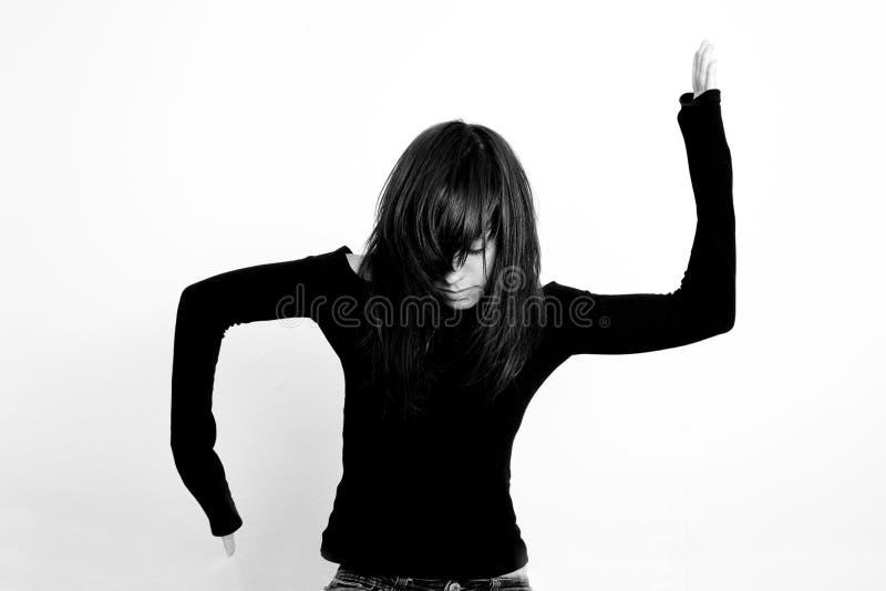 Los brazos criaron a la muchacha fotos de archivo