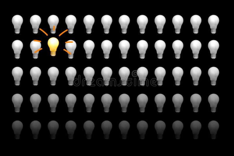 Los bulbos incandescentes foto de archivo