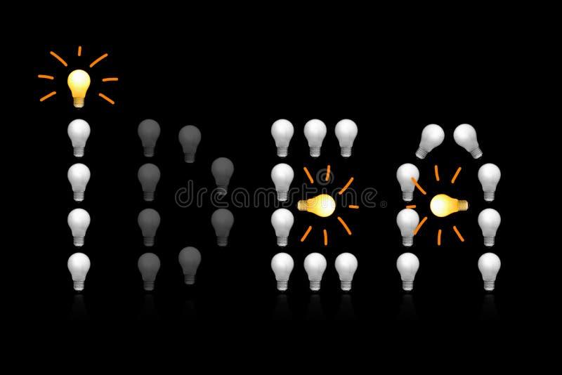Los bulbos incandescentes fotos de archivo libres de regalías