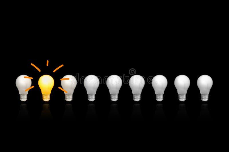 Los bulbos incandescentes imagen de archivo