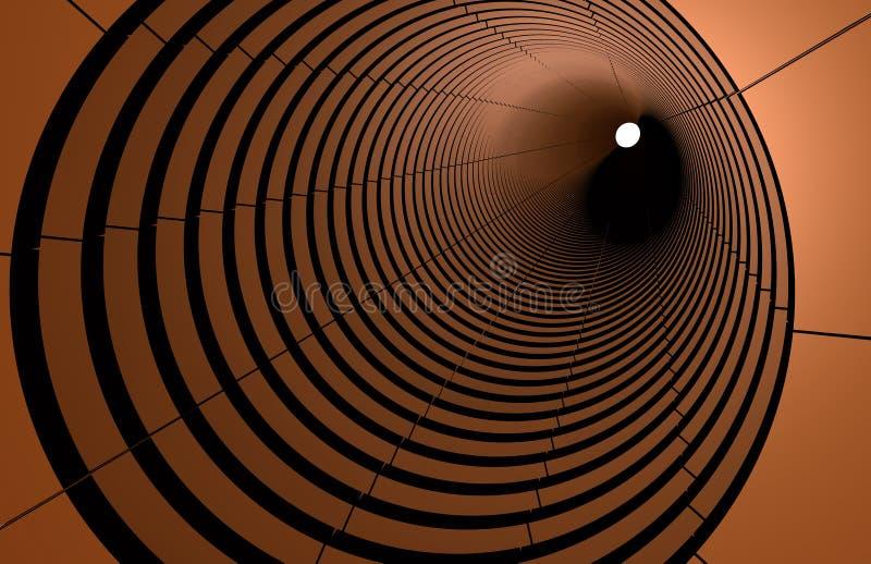 Los Circulos Abstractos 3d Conectan En Perspectiva Foto De Archivo