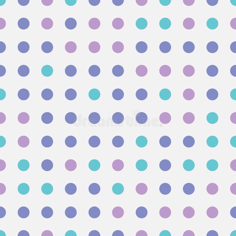 Los círculos coloridos brillantes de repetición inconsútiles del abstarct del modelo forman en fondo transparente Arte geomét stock de ilustración