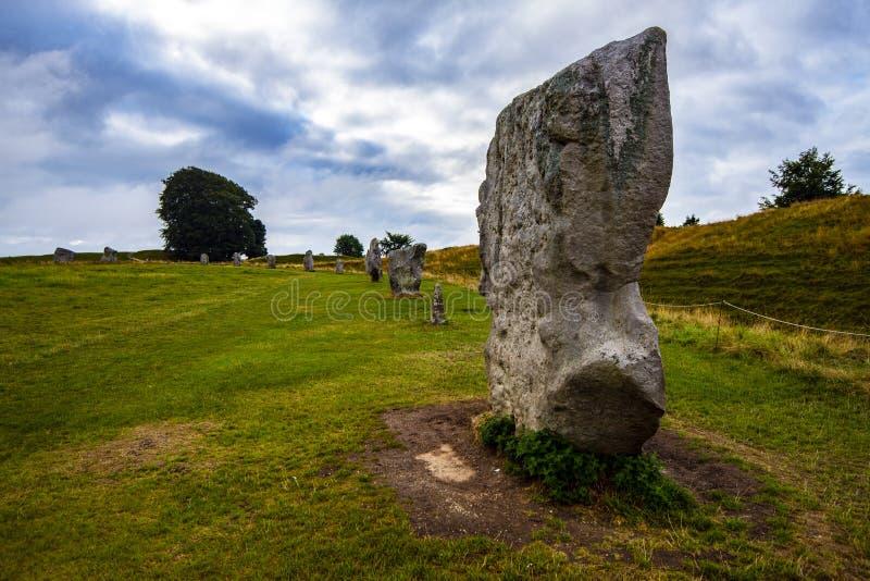 Los círculos de piedra prehistóricos antiguos de Avebury en Wiltshire, Inglaterra fotografía de archivo libre de regalías