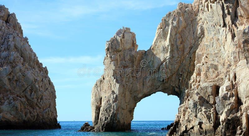 Los Cabos墨西哥曲拱El Arco cabo圣卢卡斯优秀视图 免版税图库摄影