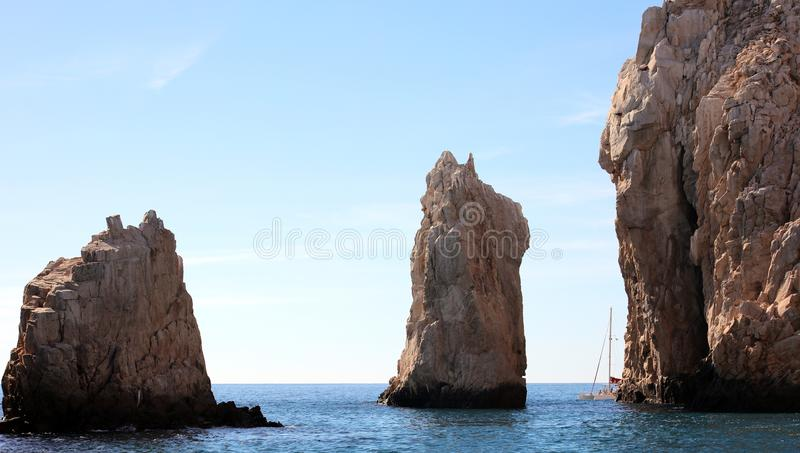 Los Cabos Mexico The Arch El Arco cabo san Lucas excellent view stock photography