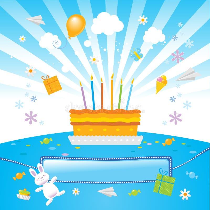 Los cabritos lo quieren fiesta de cumpleaños stock de ilustración