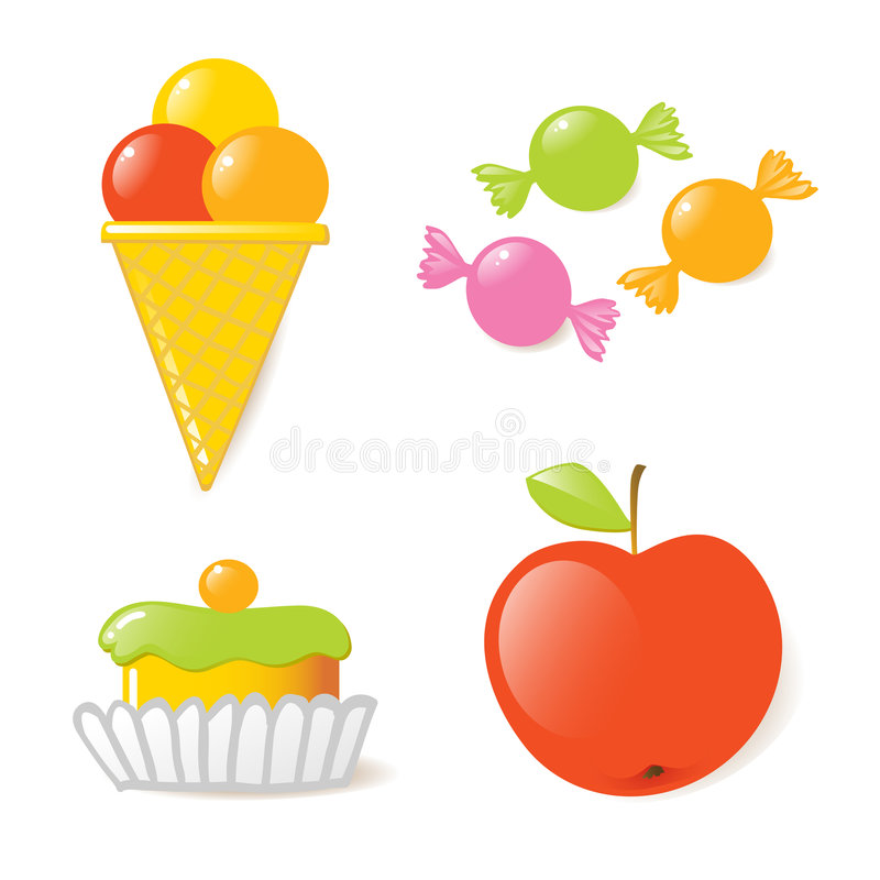 Los cabritos lo quieren los dulces stock de ilustración